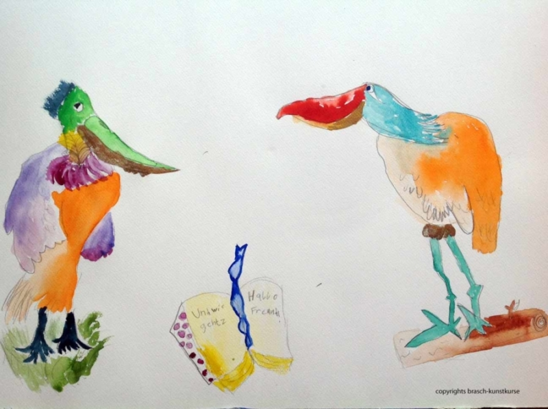 Kinderkunst Einzelfoerderungmit Kindermalkurs in der Kunstschule Hamburg. Hier wird gemalt, gezeichnet, collagiert und plastiziert. In spielerischer Form und großer Experimentierfreude betrachten wir originale Kunstwerke und gehen künstlerisch ans Werk.