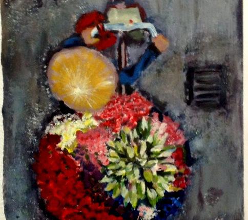 Kunstkurse mit Bildern, die ausgesprochen spannend sind erleben wir in der Kunstschule Annette Brasch. Hie wird Acrylmalerei gern mit Stiften experimentell gezeigt
