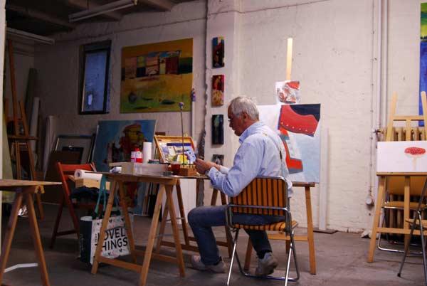 Kunstkurse mit der Küstlerin Annette Brasch Hamburg auf einzigartiger Atelieretage