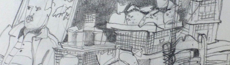 Zeichnen lernen in Hamburgmit einfachen Skizzen, Stiften außederm Kreiden