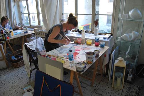 Malwochenende Hamburg im Atelierloft östlich der Alster